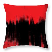Red Halftone 2 Throw Pillow