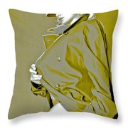 Red Hat And Trenchcoat Throw Pillow