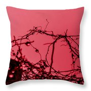Red Haze Throw Pillow