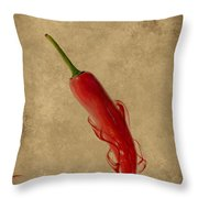 Red Hot Chili Pepper Poster  Throw Pillow