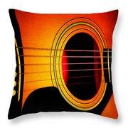 Red Hot Guitar Throw Pillow