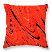 Red Hot Lava Flowing Down Throw Pillow