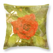 Red Hot Rose Throw Pillow