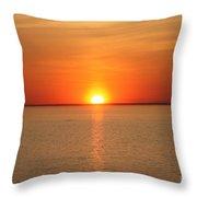 Red-hot Sunset Throw Pillow