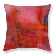 Red Hot Watercolor Throw Pillow