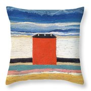 Red House, 1932 Oil On Canvas Throw Pillow