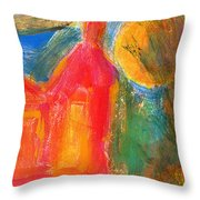 Red House 3 Throw Pillow