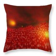 Red Ice Mountain Throw Pillow