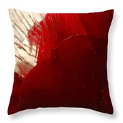 Red Ice Throw Pillow