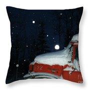 Red International Singing Those Deep Winter Blues  Throw Pillow