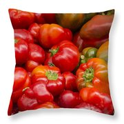 Red Is The Color Throw Pillow