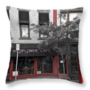 Red Is The Color Of The Day Throw Pillow