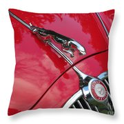 Red Jaguar 3.8 Throw Pillow