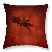Red Japanese Maple On Red Throw Pillow