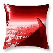 Red Jet Pop Art Plane Throw Pillow