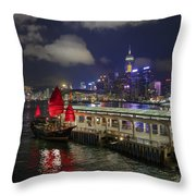 Red Jewel Of The Night Throw Pillow