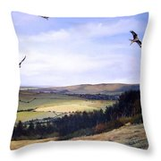 Red Kites At Coombe Hill Throw Pillow