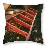 Red Ladder Throw Pillow