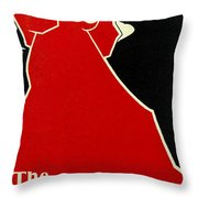 Red Lady The Chap Book1895 Throw Pillow