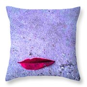 Red Leaf On D Ground Throw Pillow