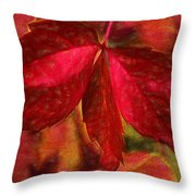 Red Leaves - Cave Dwelle Throw Pillow