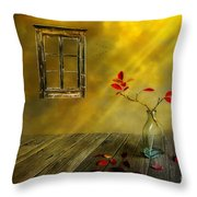 Red Leaves Throw Pillow by Veikko Suikkanen