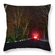 Red Light, Smoke And Flames Glowing Throw Pillow