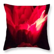 Red Lily At Night Throw Pillow