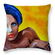 Red Lips Throw Pillow