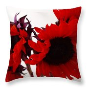 Red Lullaby Throw Pillow