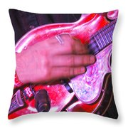 Red Mandolin Throw Pillow