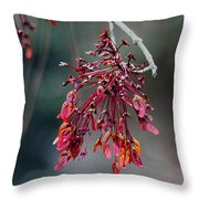 Red Maple Flowers Throw Pillow