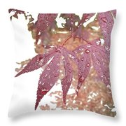 Red Maple Kissed By Water Throw Pillow