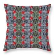 Red Maple Leaf Pattern Throw Pillow