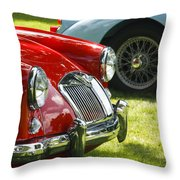 Red M G Throw Pillow