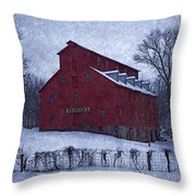 Red Mill Antique Barn Throw Pillow