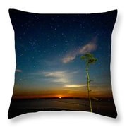 Red Moon Rising Throw Pillow