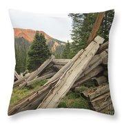 Red Mountain Ruins Throw Pillow
