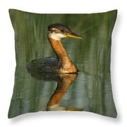 Red-necked Grebe Throw Pillow