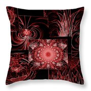 Red Neon Collage Throw Pillow