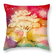 Red Night Throw Pillow
