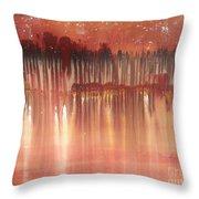 Red Night  Throw Pillow