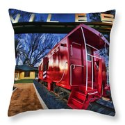 Red Niles Throw Pillow