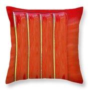 red Nova badge Throw Pillow