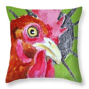 Red Nugget Throw Pillow