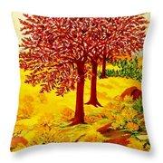 Red Oaks  Pop Art Throw Pillow