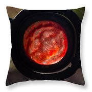Red Of The Evil Eye 1 Throw Pillow
