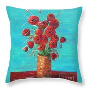 Red On My Table  Throw Pillow