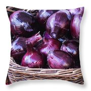 Red Onion Throw Pillow