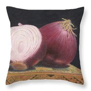 Red Onions On Chess Box Throw Pillow